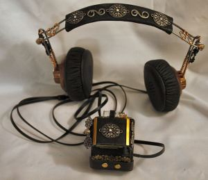 Steampunk Bracer with Headphones