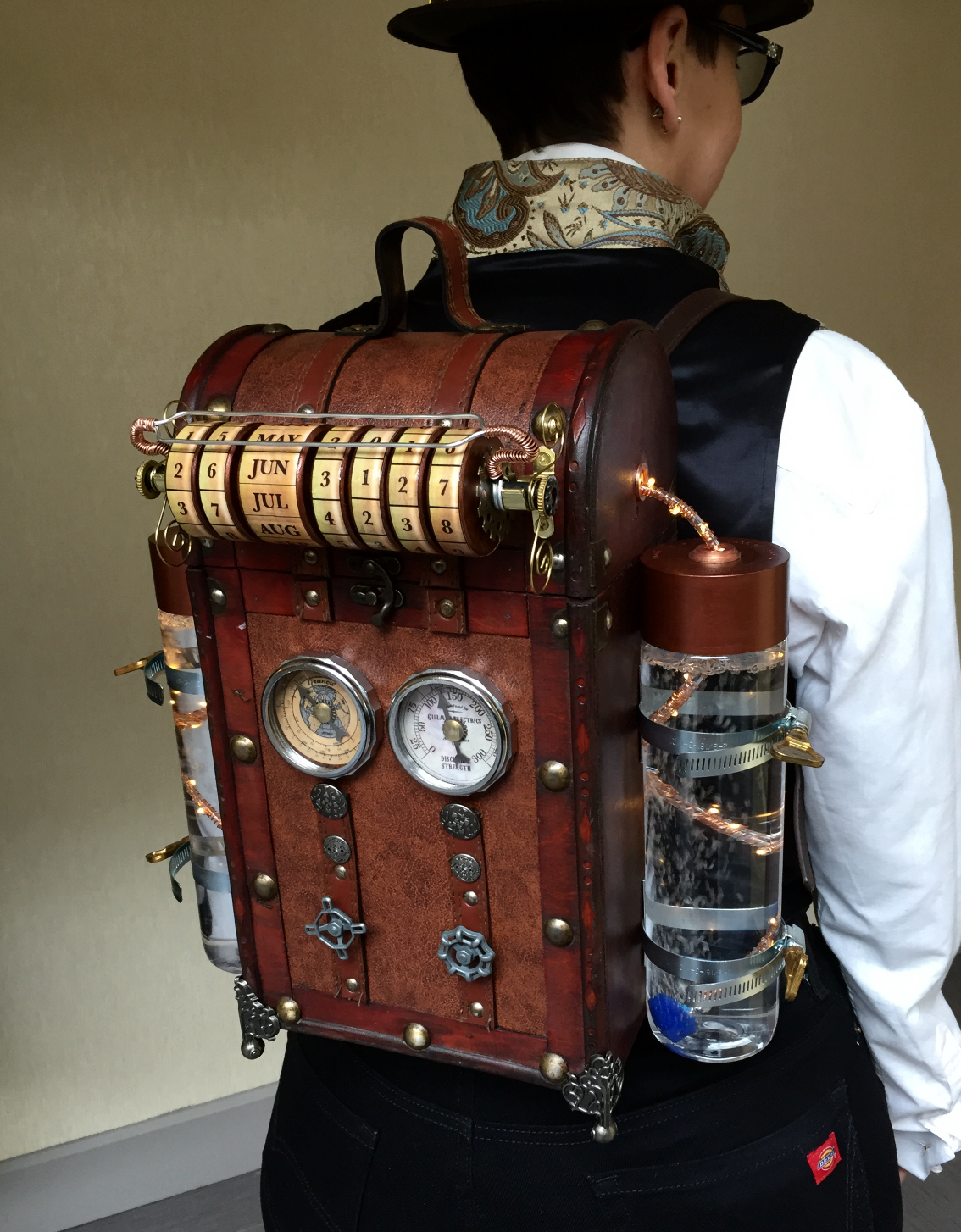 Steampunk Time Machine Backpack The Ledger
