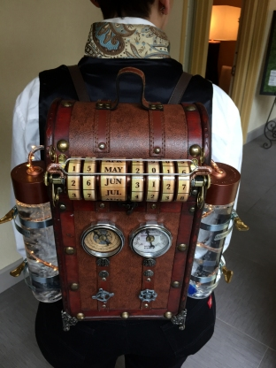 Steampunk Time Machine backpack.